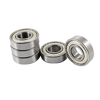 12 mm x 28 mm x 8 mm sellada rodamiento rígido de Bolas 6001RS 5 piezas