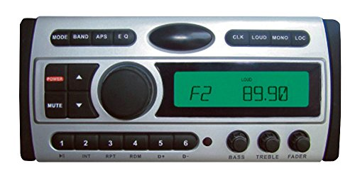 Pyle PLCDMR97 1.5-Din AM/FM Receiver / CD/CDR/MP3/AM-FM Marine Grade Player