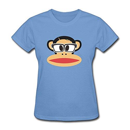 Vansty Lovely Monkey Sunglasses Short Sleeves T-Shirt For Women Sky Size - Sunglasses Khalifa Wiz