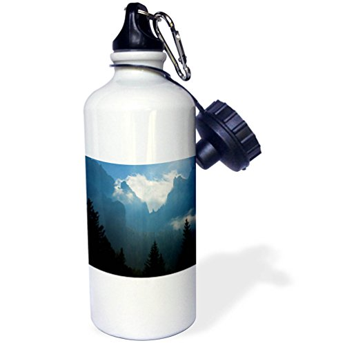 3dRose Danita Delimont - Mountains - Cloud covered mountain peaks, Dolomites, Italy - 21 oz Sports Water Bottle (wb_277541_1) by 3dRose