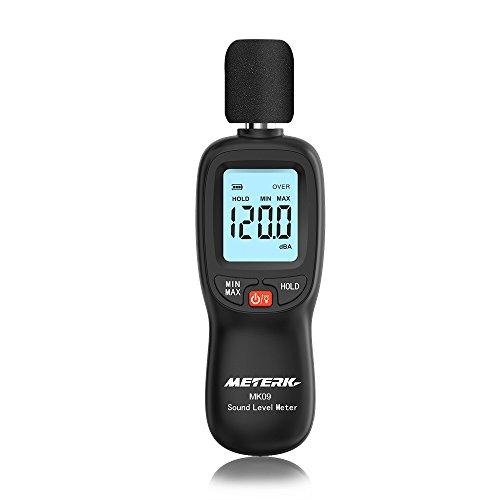 Decibel Meter,Meterk Digital Sound Level Meter, Range 30-130dB(A) Noise Volume Measuring Instrument Self-Calibrated Decibel Monitoring Tester(Battery ()