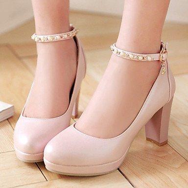 US3 Round Platform Pink Black 5 Women'S CN32 Career Chunky Office Toe Blue Heel Dress 5 EU33 Shoes Heels Heels UK1 Zormey White amp;Amp; xqTSwpYX