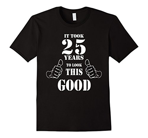 Mens 25th Birthday Gift Idea Vintage 1993 Funny Men Women T Shirt 3XL Black
