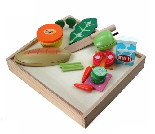 Berry Toys Casual Wooden Play Food Set (17-Piece) by Berry Toys