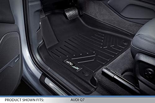 2019 Audi Q8 2017-2019 Bentayga MAX LINER A0364 Custom Fit Floor Mats 1st Row Liner Set Black Q7