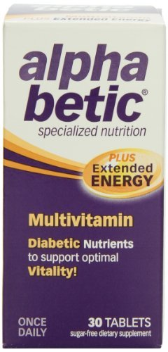 Abkit Vitamins - Abkit, Alpha Betic for Diabetic Health, Advanced Multi-Vitamin, 30 Capsules by Nature Works