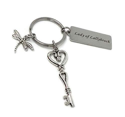 Lady of Lallybroch Keychain - Sassenach Keyring - Outlander Gift - Celtic Accessory