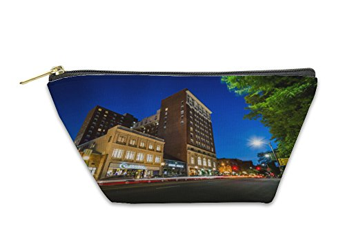 Gear New Accessory Zipper Pouch, Buildings And Traffic On Chapel Street At Night In Downtown New, Small, - Shops Chapel Street In