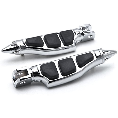 Suzuki//Honda // Can Front Chrome M90 Goldwing Stiletto Motorcycle Foot Pegs Left+Right Krator HH007-C Rest