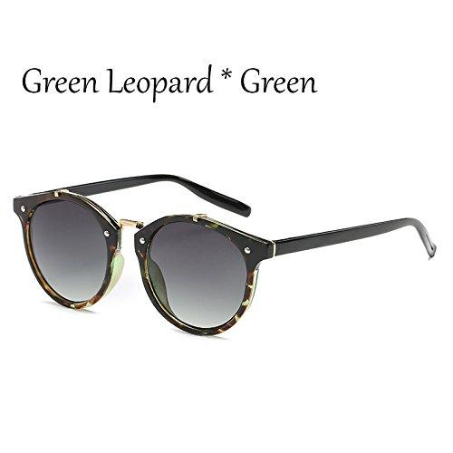 Moda Lujo Leopard C7Green Gray Sol Tonos Viaje TIANLIANG04 Gafas Sol C1 Gafas Mujer G360 Mal De Leopard Verde Señoras Gradiente Vintage Hombre Gafas De De De BBgZwxX4q