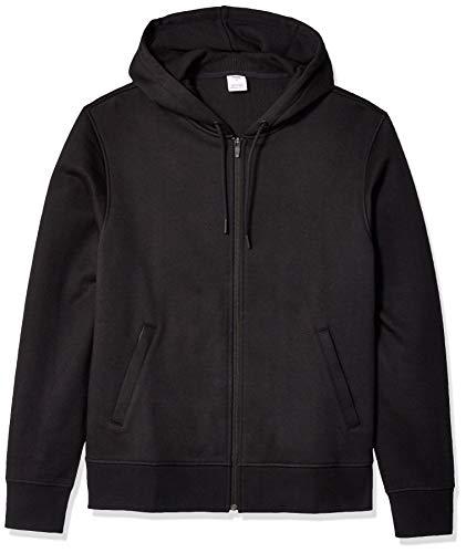 Amazon Essentials Men's Water-Repellent Thermal-Lined Full-Zip Fleece Hoodie, Black, ()
