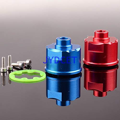 Hockus Accessories TRV011 Alloy Front/Rear Diff Case 1pcs Fit 1/10 RC Model Car Traxxas Slash 4x4 SC Truck - (Color: Red)