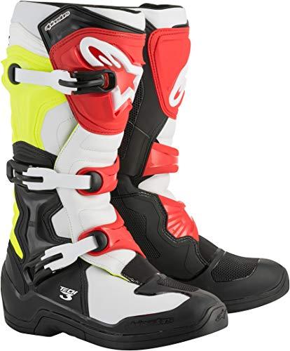 EU US 3 Rojo Tech 8 Blanco Botas Alpinestars Rojo MX 42 xqg18Y78