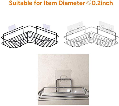 Laigoo 4 Pcs Adhesive Hook Sticker//Wall Hook for Banthroom Shelf Corner Shower Caddy