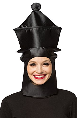 Adult size Black Chess Piece Open Face Masks - Queen