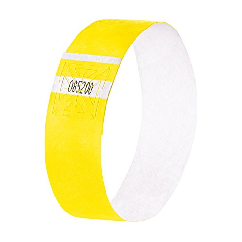 Sigel EB213 Event Wristbands Super Soft, neon yellow, 10.04 x 0.98 inches, 120 pcs. -