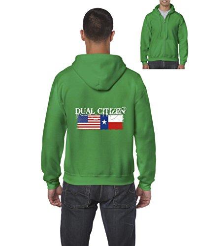 Texas Hoodie Dual Citizen Texan Full-Zip Men's (The Fashion Citizen Halloween)