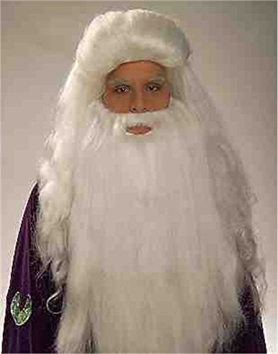 Forum Novelties White Sorcerer & Beard Wig ()