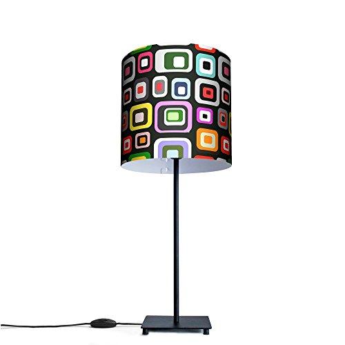 banjado - Tischlampe Büroleuchte Schreibtischlampe Motiv Retro, Tischlampe mit 15W Leuchtmittel