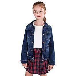 SOLOCOTE Girls Denim Jacket 3-14Y Spring 2019