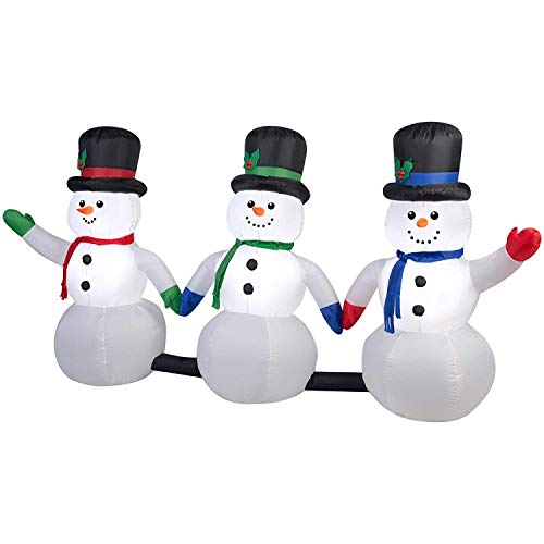 Musical Inflatable Snowman Pathway w/Lightshow Airblown by Gemmy