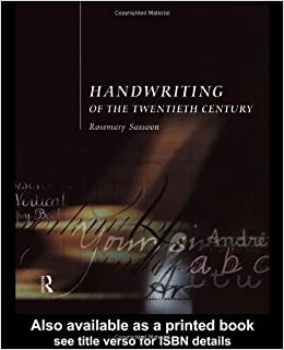 Book Handwriting of the Twentieth Century