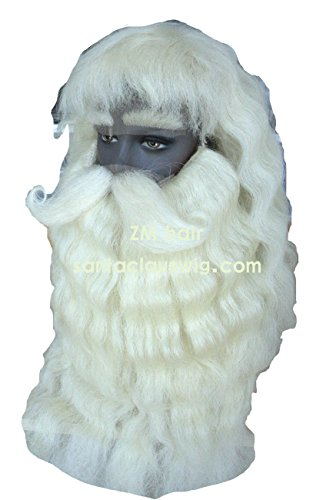 Yak Head Costume (Deluxe Prefessional Yak hair Santa Claus Beard and Wig Set)