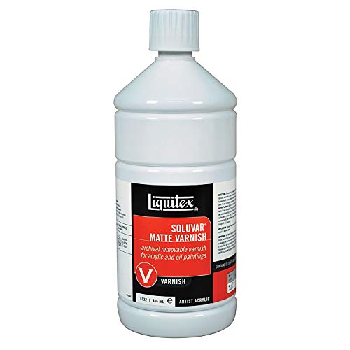 - Liquitex Soluvar Final Picture Varnish 32 oz. bottle matte