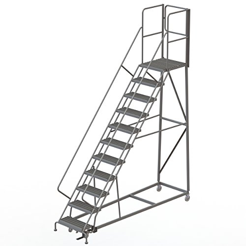 R 11-Step Gateway Rear-Exit Gate Forward Descent Incline Ladder with 27