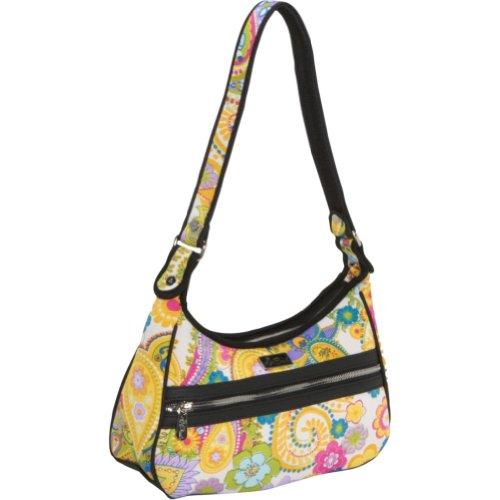 Beach Handbags Harbor Beach Small Zip Top Bag (Whimsical Daydream), Bags Central