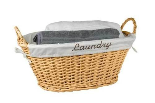Durable Lightweight Wicker Construction Laundry Bin Basket Perfect For Any House (Wicker Hampers Walmart)