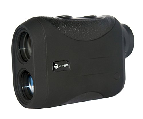 Golf Rangefinder - Range : 5-1312 Yards, +/- 0.33 Yard Accuracy, Laser Rangefinder with Height, Angle, Horizontal Distance Measurement Perfect for Hunting, Golf, Engineering Survey (Black) (Golf Distance Scope)