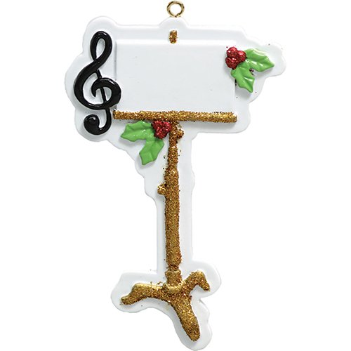 (Personalized Music Stand Christmas Tree Ornament 2019 - Treble Clef Sign Peppermint Berry Artist Compose Conduct Hobby Virtuoso Player Solo Vocal Teacher Profession Year - Free Customization)