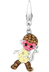 Sterling silver Crystal Monkey (Charm)