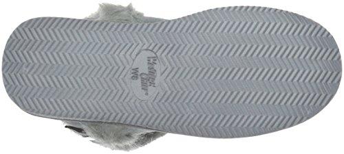 Västerländska Främsta Kvinnor Slip-on Plysch Toffel Boot Kiera Träkol