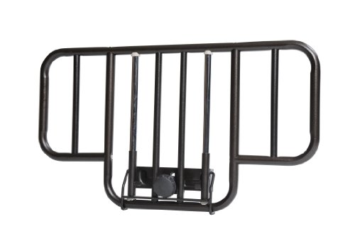 Drive Medical No Gap Deluxe Half Length Side Bed Rails with Brown Vein Finish, Brown Vein, Half Length Half Rails
