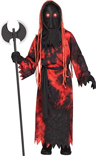 Fun World Big Boy's Fade Eye Executioner Costume Childrens Costume, red, Medium -