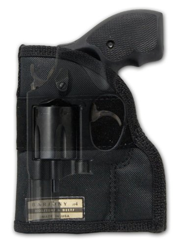 Barsony Nylon Gun Concealment Pocket Holster for Ruger LCR 38 357