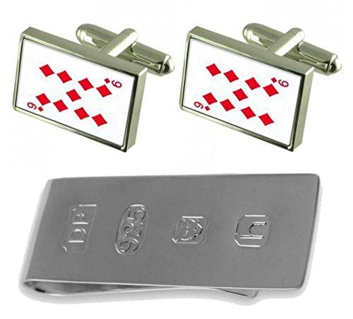 Money Card 9 Diamond number Playing James amp; Bond Clip Cufflinks BR8pw6pq5x