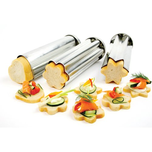 Norpro Set of 3 Bread Canape Tube/Mold 8.75