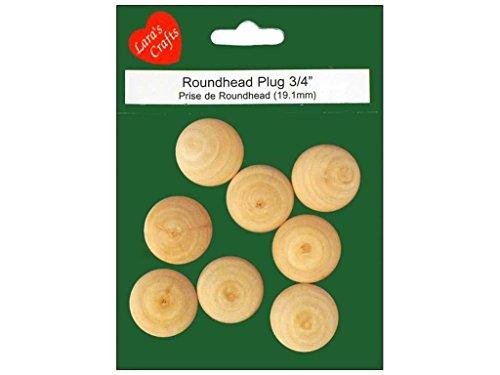 Lara's Wood Package Round Head Plug .75