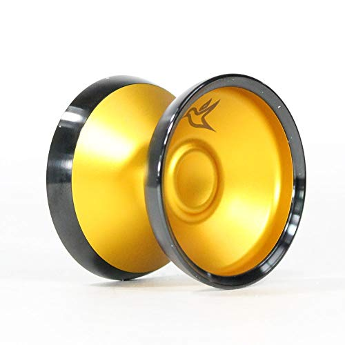 yoyofriends Hummingbird Yo Yo - 7068 Aluminium with Stainless Steel Rims (Orange with Black Ring) by yoyofriends (Image #4)