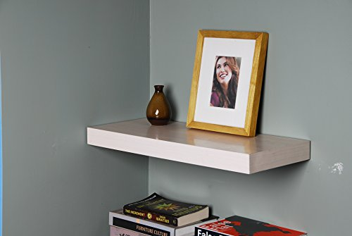 WELLAND Chicago Floating Shelves, 24 inches, Maple (Wall Shelf Maple)