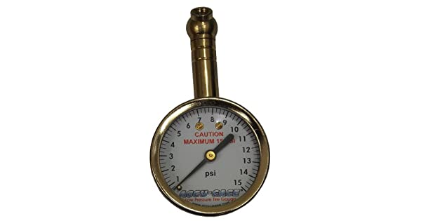 Accu-Gage S15XA Swivel Angle Chuck Dial Tire Pressure Gauge with Bleed Valve 3-15 PSI