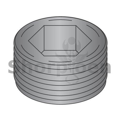 Flush Seating Socket Pipe Plug Plain 1 (Box of 25) weight4.11Lbs