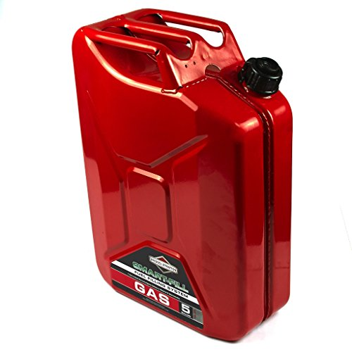 - Briggs & Stratton 85043 5 Gallon Spill Proof Metal Gas Can