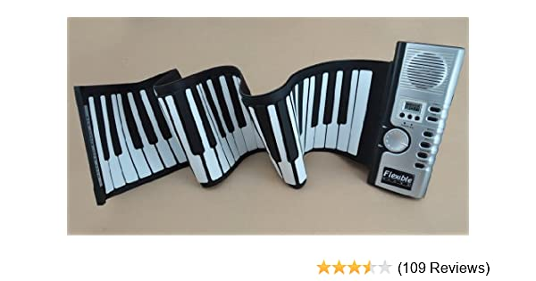 df252f6d58b Amazon.com: Roll up Electronic Piano Soft Keyboard 61 Keys Portable Roll  up: Musical Instruments