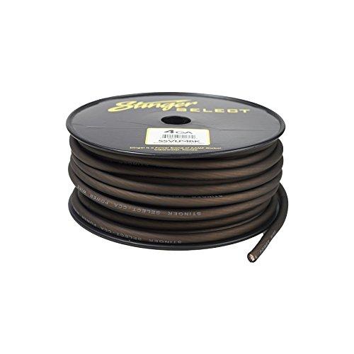 Stinger SSVLP4BK 4Ga Matte Black Power Wire 100' by Stinger