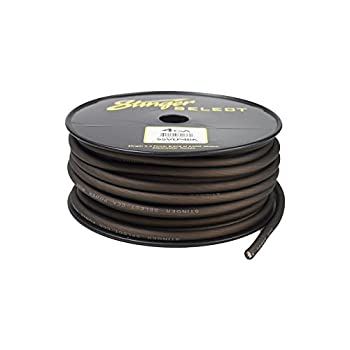 Stinger SSVLP4BK 4Ga Matte Black Power Wire 100'