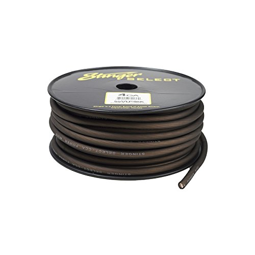 - Stinger SSVLP4BK 4Ga Matte Black Power Wire 100'